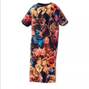 Adidas Originals floral trefoil dress